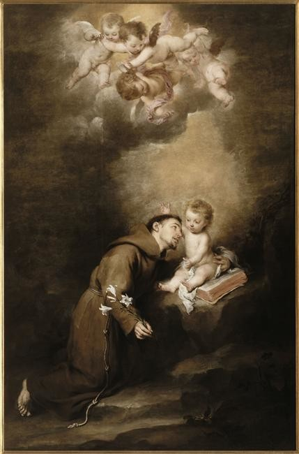 Saint Anthony Of Padua And The Infant Jesus